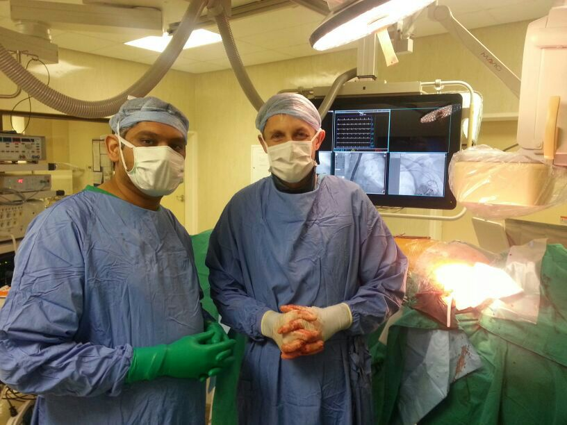 Lead extraction with our cardiothoracic colleagues Dr. Jacques van Wyk (Cardiothoracic surgeon)  and  Dr. R.  Gopal