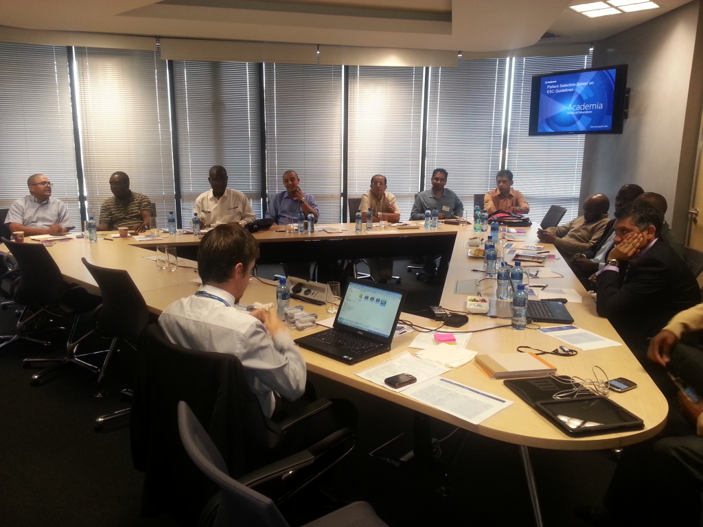 Medtronic Academia 1 Feb 2013  Dr. Gopal teaching ICD / CRT / Export meeting – Nigeria / Namibia / Mauritian delegates