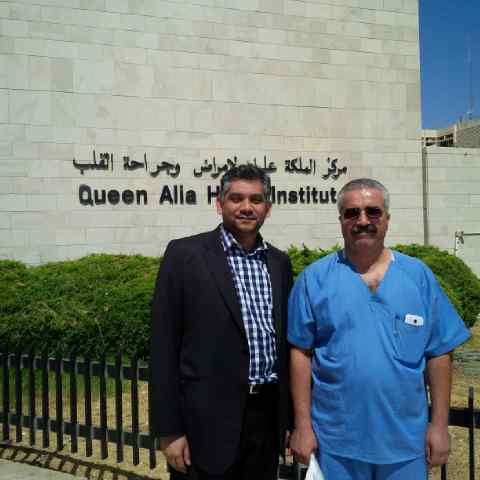 Cryo-ablation proctorship: Dr. Gopal and head of Electrophysiology, Dr. Yagyah Badainey, Queen Aaliyah Heart Institute, Jordan