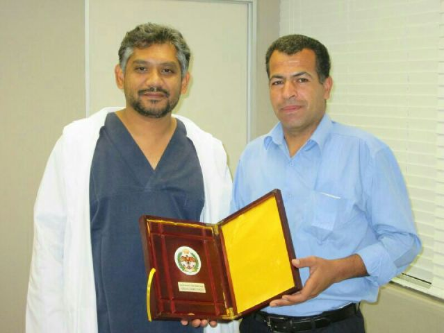 Our first visiting cardiac technologist Abdullah Mashagbah, visiting from Queen Aaliyah Heart Institute, Jordan