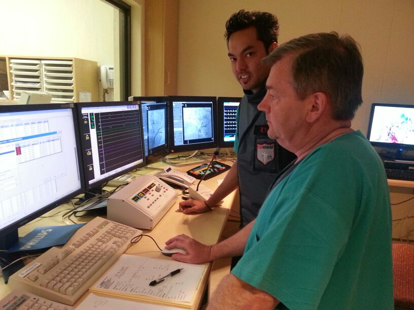 Ryan Leon and Jeff Adams (Chief cardiac physiologist in Leuven Belgium)