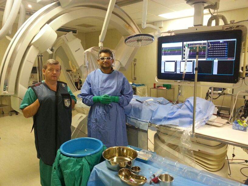 Dr. R. Gopal and Jeff Adams (Chief cardiac physiologist in Leuven Belgium)