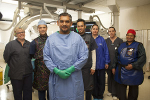 Dr Gopal with members of the team